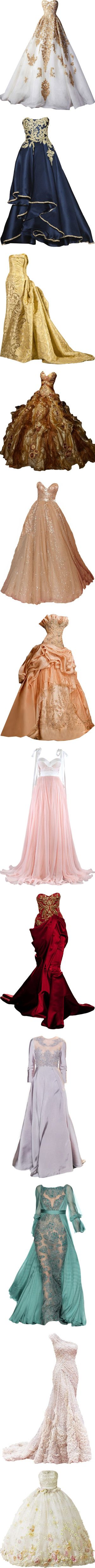 dresses that fuel my desire to be a princess by missherjh on Polyvore featuring dresses, gowns, long dresses, vestidos, long blue evening dress, blue ball gown, blue gown, blue evening dress, marchesa evening gowns and tube dress