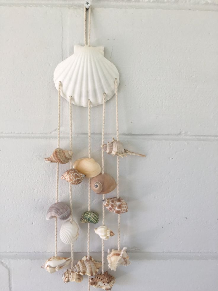 Summer Sale Sea Shell Hanging- Wind Chime, sea shells, wall hanging, beach decor, coastal - $15.99 USD