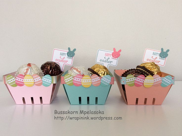 Mini berry baskets, Easter baskets, Stampin' Up! Spring Sampler, Stampin' Up! From the Garden, Handpicked For You thinlits dies