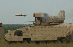 Bradley Fighting Vehicle firing TOW Missle