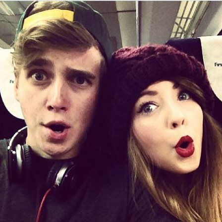 zoella and joe sugg. I wish me and my sibling were like them together