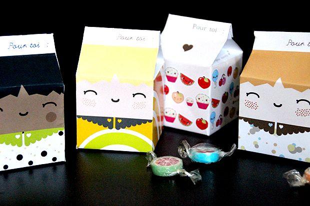 Diy : la milkbox à imprimer… (1/2) boîte a invitation
