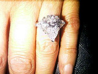 Bethenny Frankel's original engagement ring. It makes me really consider a pear...