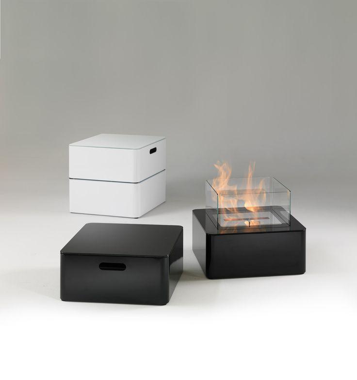 chimenea de etanol firefox blanco y negro