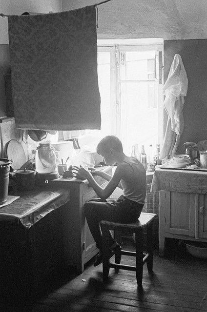 Communal apartment in Moscow circa 1972.