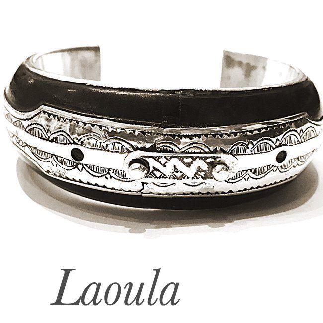 Bracelet Touareg ethnique argent et ébène 255466, bijoux originale
