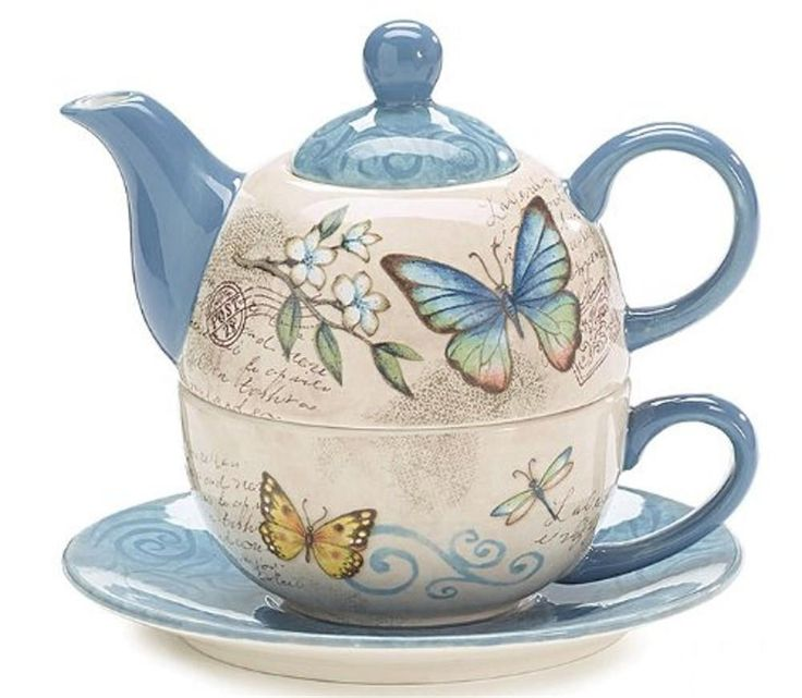 Tea for One - Butterfly Garden - 15 oz | eBay