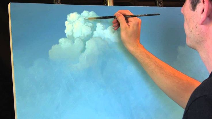 Painting Clouds with Tim Gagnon, A Time Lapse Speed Landscape Painting with Acrylic