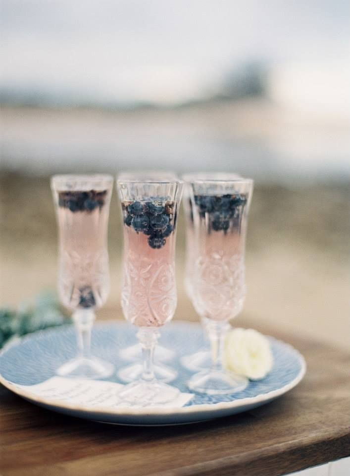 Blueberries and champagne? Sounds like a good combo to us.