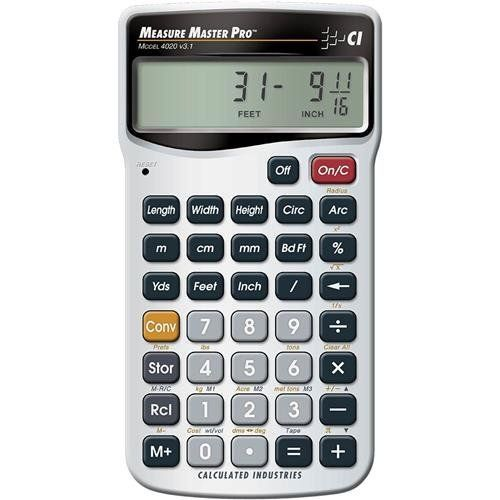 Calculated Industries 4020 Measure Master Pro Measurement Conversion Calculator by Calculated Industries
