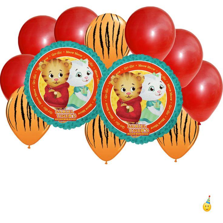Mylar Latex Party Balloon Set Daniel Tiger 12 Pc