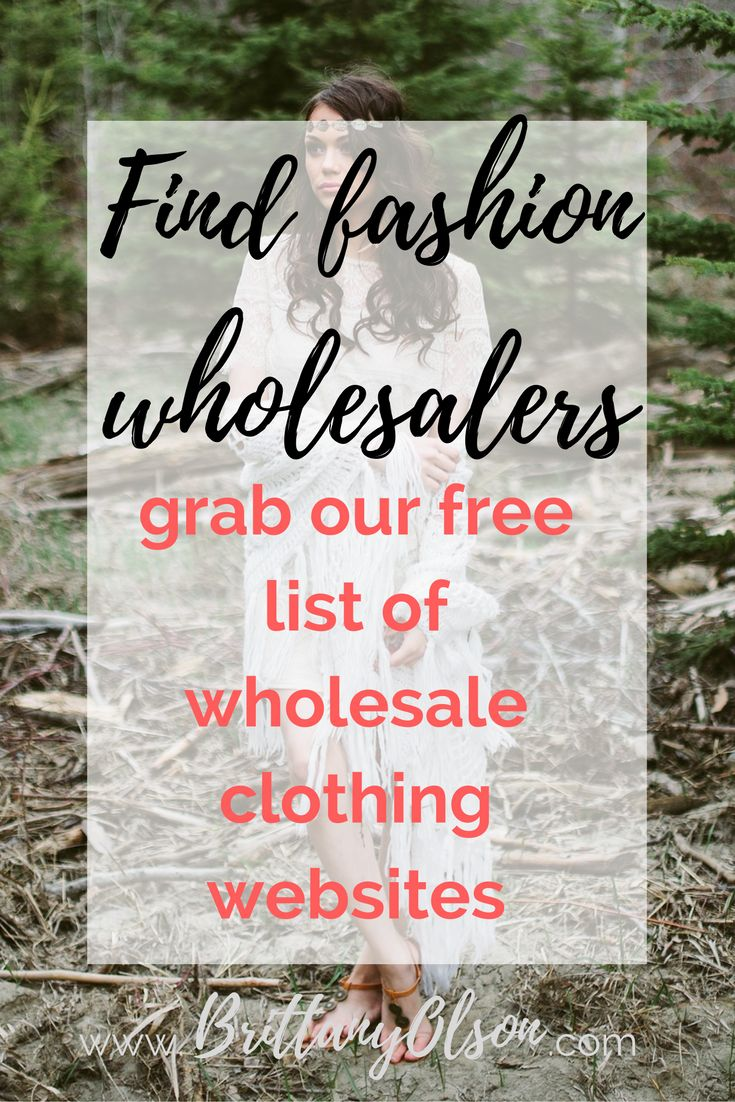 "You can make a full time income from home by selling clothing online but  where do you find wholesale clothing and accessories for your online  boutique? It can be difficult to find affordable clothing wholesalers  because many of the ""wholesalers"" showing up in google search results are  selling the same items as other wholesaler clothing suppliers but a much  higher price.   CLICK HERE FOR OUR WHOLESALE CLOTHING WEBSITE LIST  Some wholesale clothing websites require you to send them a copy…"