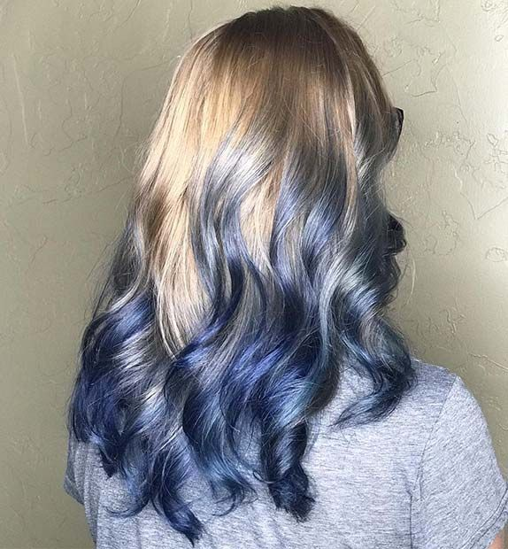 41 Bold And Beautiful Blue Ombre Hair Color Ideas Page 4 Of 4 Stayglam Blonde And Blue Hair Blue Ombre Hair Turquoise Hair