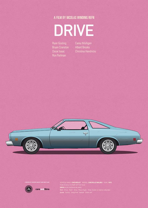 Drive - Cars and Films - Poster Series by Jesús Prudencio