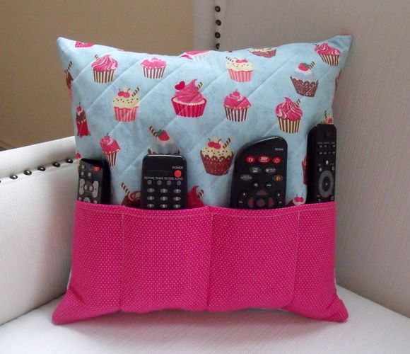 Pillow Remote Control Door Cupcake