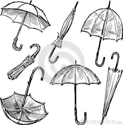Umbrellas sketches