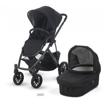 Uppa Baby Vista Black - The VISTA is a convertible stroller system that can transport up to three children without growing wider. Designed to adapt as your family grows, the VISTA accommodates your precious cargo from birth through the toddler years. BabyCubby.com