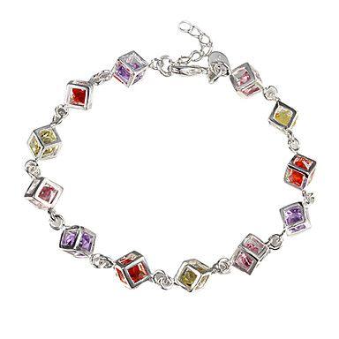 EUR € 3.35 - H220 pulsera de plata de ley 925, ley 925 joyas de plata de la moda brazalete de piedra de color / dapalrwa ebnamsua, ¡Envío Gratis para Todos los Gadgets!
