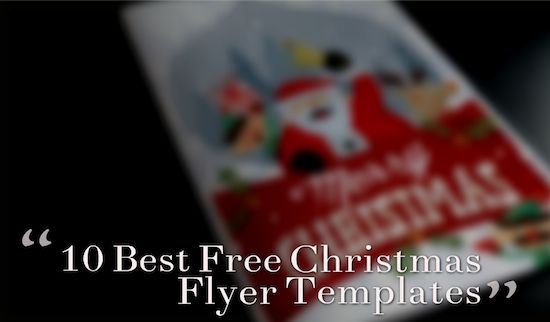 10 Best Free Christmas Flyer Templates