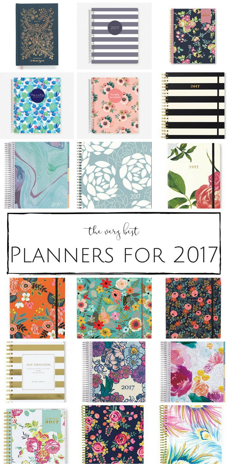 Looking for the perfect 2017 Planner? I've rounded up the very best to help you manage the chaos and really get organized this year!