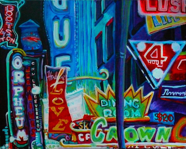 GRANVILLE STREET LULLABY, acrylic on canvas, 2010, SOLD #art #arte #artists #artwork #finart #popart #painting #tiko #kerr #tikokerr