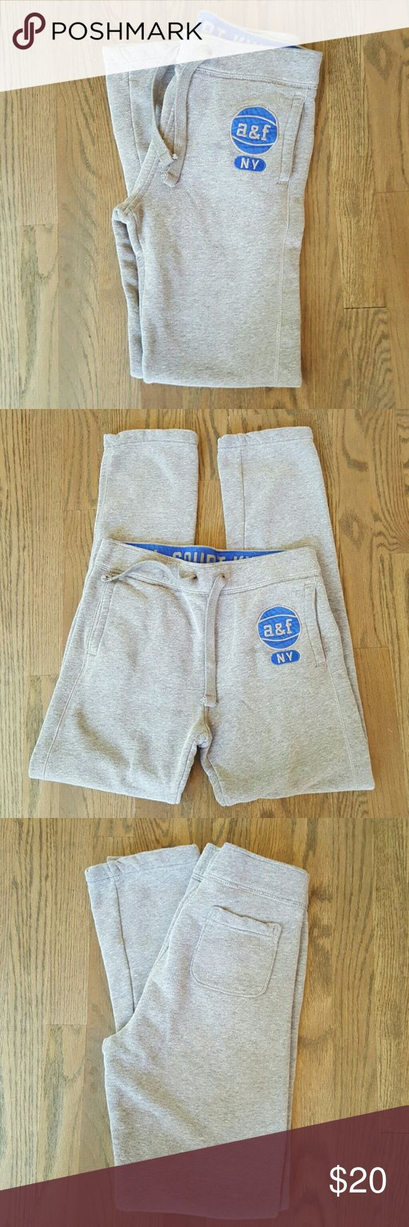 Boys Abercrombie Kids Basketball Logo Sweatpants Perfect for your full court king! VERY soft and cozy.  In pristine condition, have been washed with extreme care and line-dried dried only. abercrombie kids Bottoms Sweatpants & Joggers