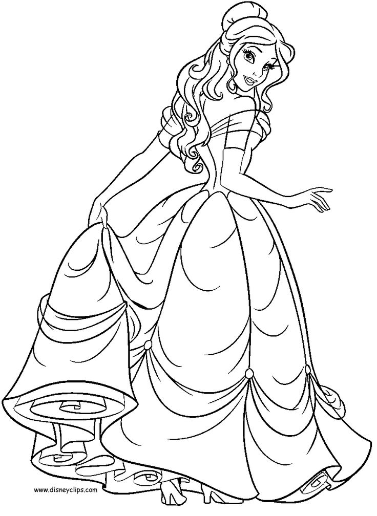 disney princesses belle coloring pages and coloring for kids and