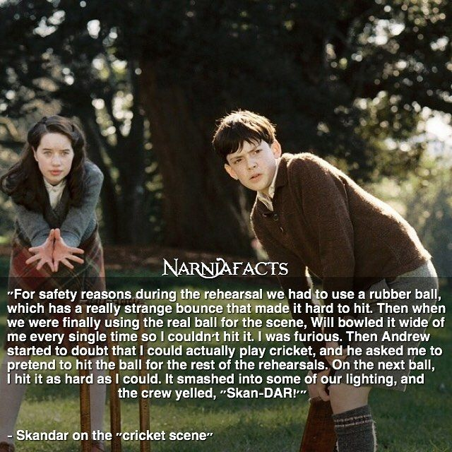 William, Anna, Skandar, and Georgie didn't play the Pevensie kids; the Pevensie kids played William, Anna, Skandar, and Georgie!!