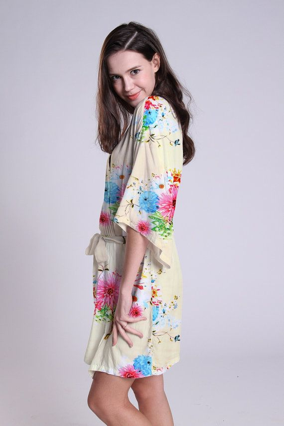 custom robes bridesmaids gifts cheap kimono gown by ForBride