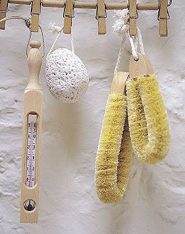 perfect way to hang accessories in the sauna!: baileys by mail