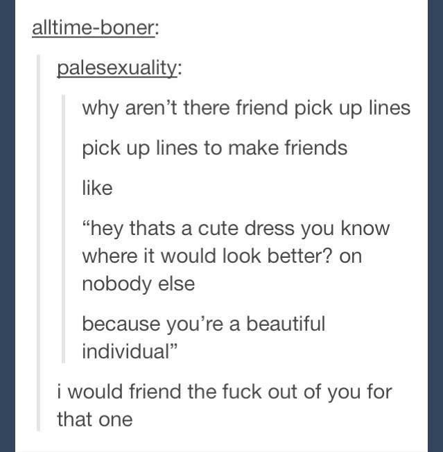 cheesy pick up lines for friends