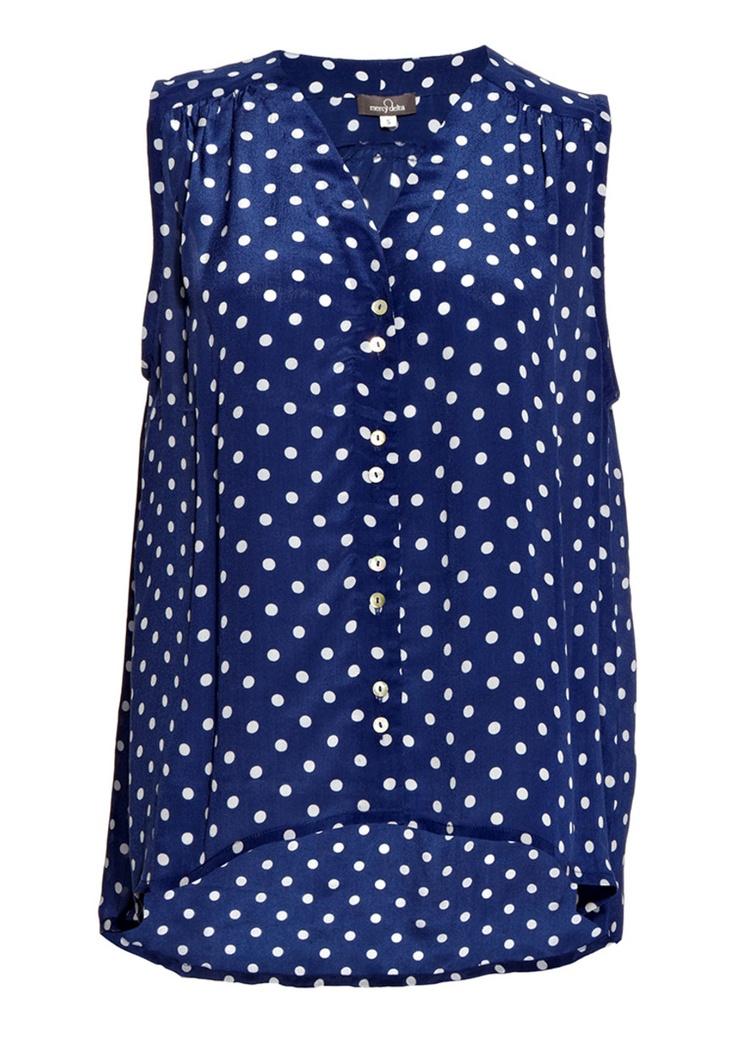 Mercy Delta Miki Polka Dot Shirt - Navy