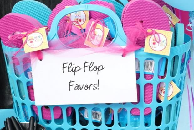 Flip Flops For Pool Party Favors Party Ideas