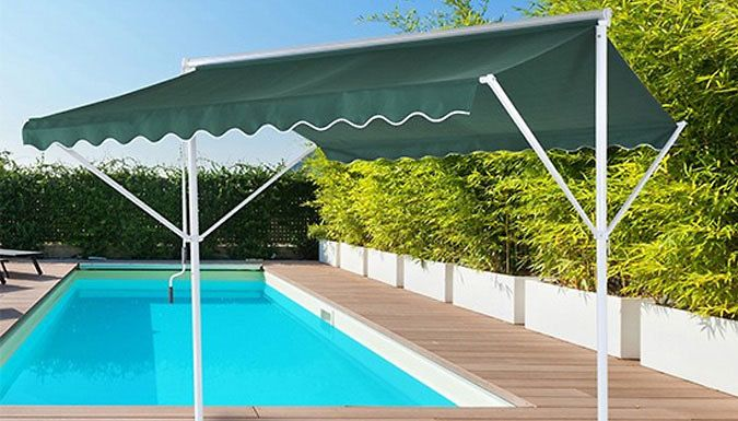 Buy Weatherproof Adjustable Awning Shelter UK deal for just: £129.99 Relax outdoors with the Weatherproof Awning Shelter      Provides shade from the sun and protection from rain.       Size: 2.95m (L) × 2.95m (W) × 2.6m (H)       Durable 280g/㎡ polyester material with PU weatherproof coating       Long handed lever allows you to open and close the awning smoothly       Ideal for...