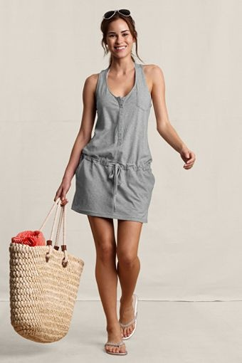 Women's Sleeveless Beach Cover Up - Land's End Canvas $24.50