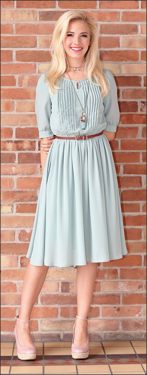 Modest Dresses/ Clara Dress/ Sage Dress/ Vintage Inspired Dress