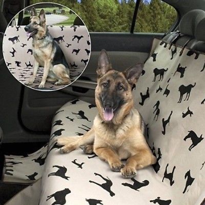 Pet Seat Cover for Car- Dog Print/new/ removed from box for shipping cost