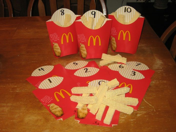 Change into McDonald's Theme and prepare this for Math small group  Creative Teaching: Math