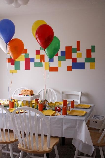Such a fun theme for a kid's birthdayparty -- Legos! Delia Creates has ideas on invites, games, food, decor  more.