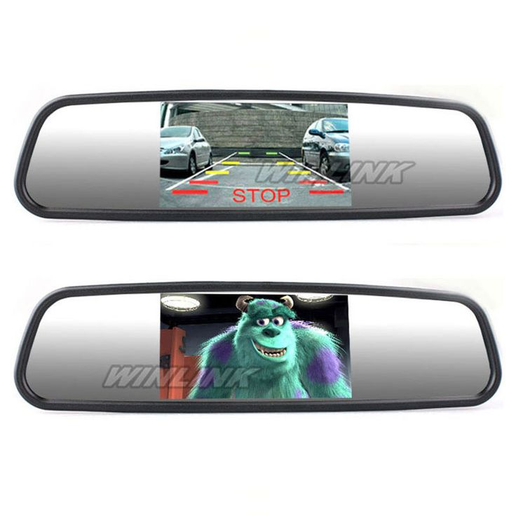 """Free shipping! 4.3"""" TFT Car Monitor Mirror View Rearview Auto LCD Screen Backup Camera for Car Reversing Record"""