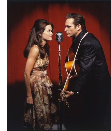Reese Witherspoon as June Carter and Joaquin Phoenix as Johnny Cash