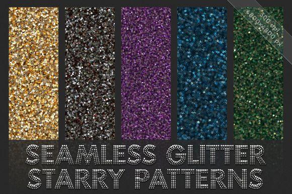 Starry glitter patterns. Seamless by GivArt on @creativemarket