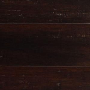 Handscraped Strand Woven Warm Espresso 3/8 in. x 5-1/8 in. x 36 in. Click Engineered Bamboo Flooring (25.625 sq.ft/case)
