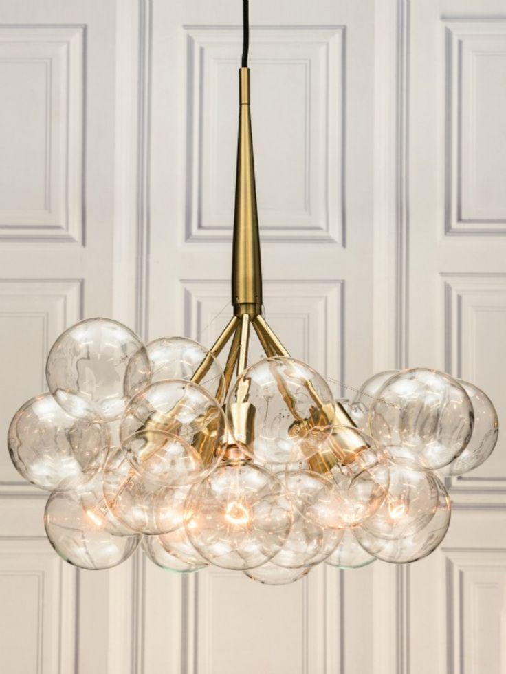 Retro glass globe chandelier
