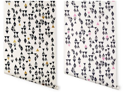 San Francisco-based illustrator and artist Lisa Congdon has created a new line of wallpaper for Hygge & West. The triangles pattern is my personal favorite. Lisa also has an awesome blog, if you don't know about it – go read it here. I've been a long-time fan of Lisa's work, but as of late, I feel like she's really been hitting it (extra far) out of the park.