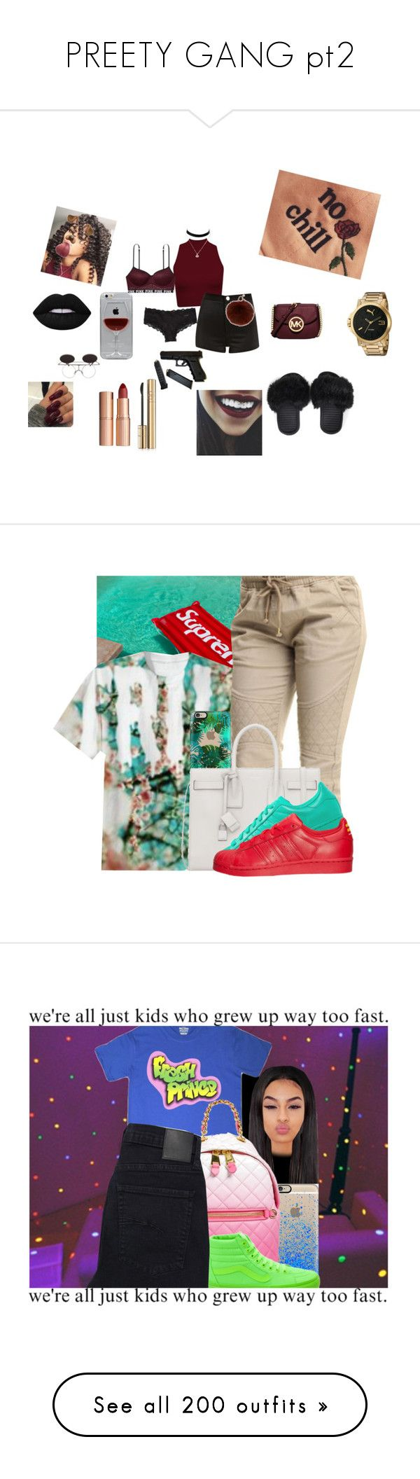 """""""PREETY GANG pt2"""" by onsavagemood ❤ liked on Polyvore featuring Michael Kors, River Island, Reyes, Yves Salomon, Charlotte Tilbury, Lime Crime, Calvin Klein, Puma, Dolce&Gabbana and Casetify"""