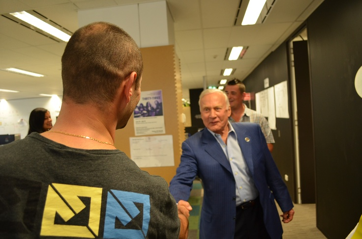 Buzz Aldrin's visit to UBank HQ