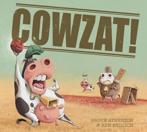 'Cowzat!' - A #ChildrensBook #written by #BruceAtherton and #illustration by #BenRedlich. The #true #story of how #cricket was #invented, right here in #Australia! It was on one fateful day when dairy #cow #Daisy #May got a #cricket up her #nose and sneezed. Her friend grabbed a stick from a nearby #willow #tree and whacked the flying cricket over the #fence with a pleasant-sounding click.  Find out more or #purchase this #book via the link…
