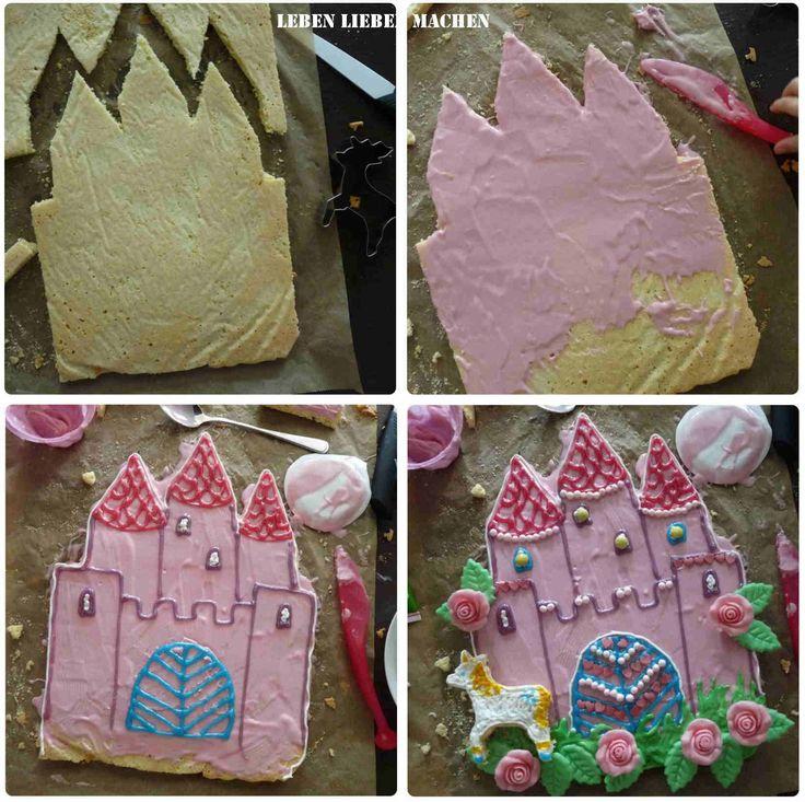Geburtstagskuchen für den Feen-Geburtstag aus Bisquitboden - Tolle Idee!!