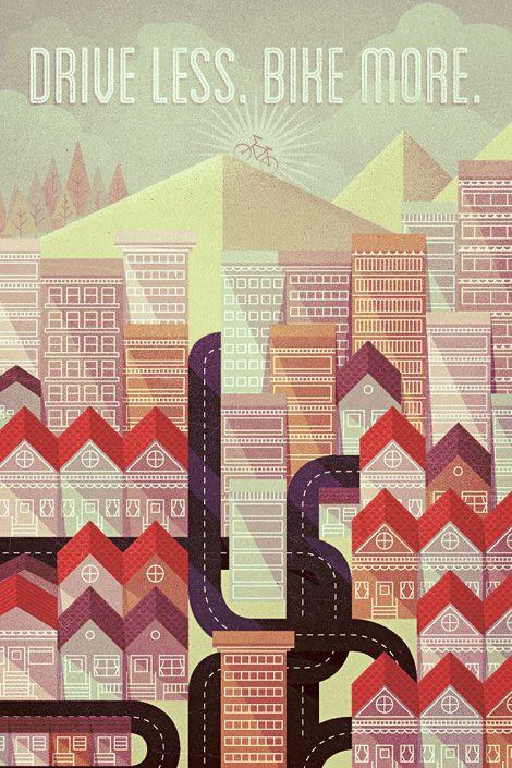biCyCle Store Paris - via http://bit.ly/epinnerDigital Art, Posters Design, Vintage Illustration, Graphics Design, Graphics Posters, Illustration Art, Justin Mezzel, New Years, Justinmezzel